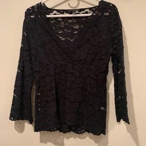 Banana Republic black lace blouse